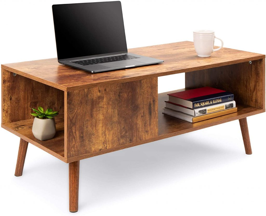 wooden midcentury modern coffee table accent furniture